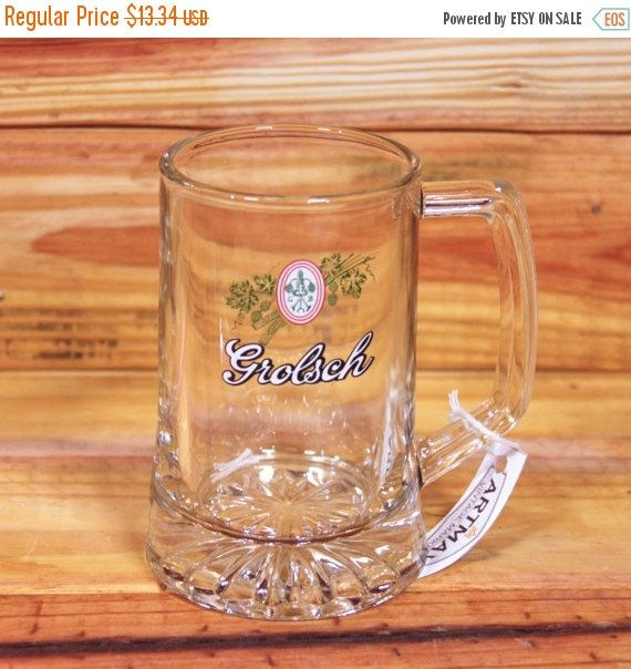 ON SALE Grolsch Beer Mug by ArtMaxAntiques on Etsy