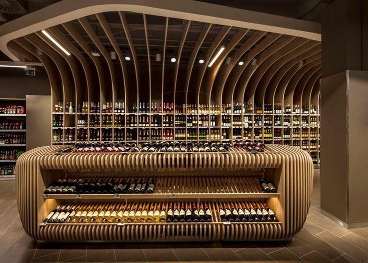 Řekli byste, že jde o interiér supermarketu? Toto je Spar v Budapešti, a: LAB5 Architect http://www.lab5.hu/en