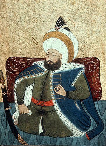Sultan Mehmed II,  1451-1481, portrait from nineteenth century manuscript no 3109, Topkapi Palace Museum, Istanbul, Turkey