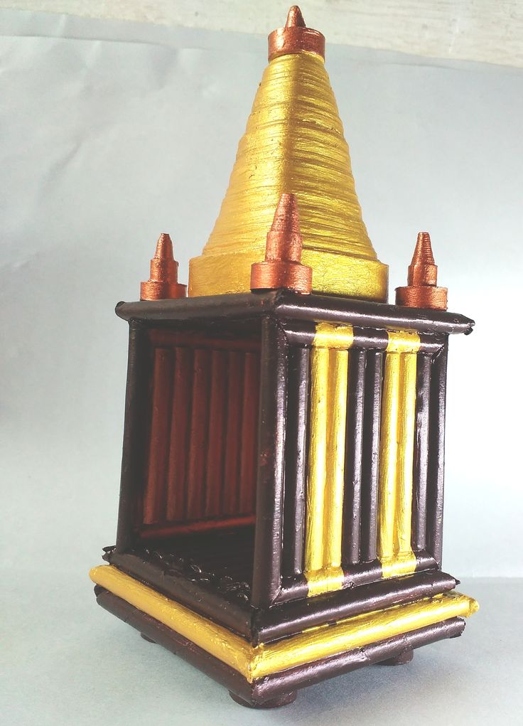 16 best best out of wastehandicraftspaper gift articles images these small mandir is made with waste xerox papers cut into quilling strips quilling item negle Images