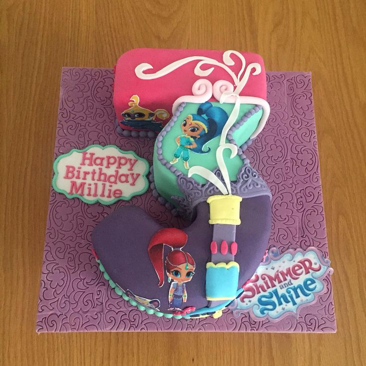 Best 25 shimmer and shine cake ideas on pinterest for Number 3 decorations