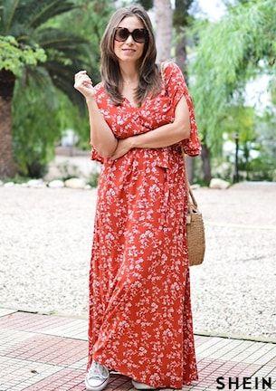c62aaef689 Ditsy Floral Side Slit Surplice Kimono Dress | SHEIN | 19 in 2019 ...