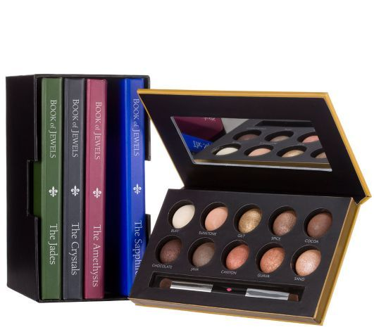 Laura Geller Eye Shadow Five Book Library on QVC.com for only $99.99 and 5 easy payments right now. Color organized in each color book, with 20 beautiful mix of matte, shimmer and glittery in each book for a total of 100 gorgeous eyeshadows per book
