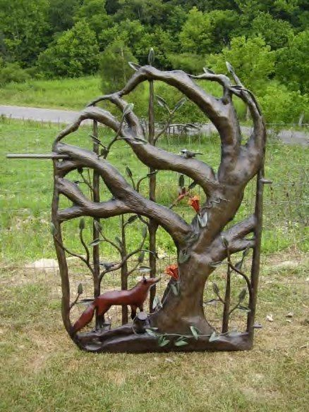 Attractive Custom Made Garden Gates In Wrought Iron Style   Tree Gate