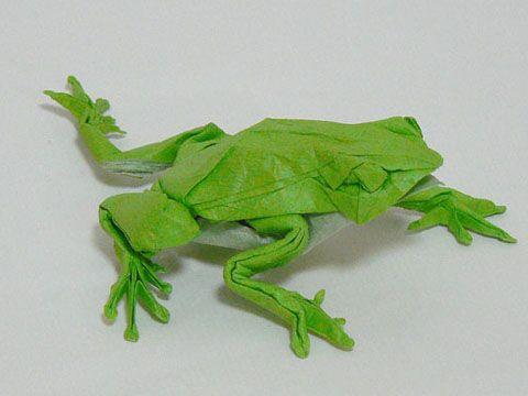 1000 id es sur le th me grenouille d 39 origami sur pinterest origami tutoriel d 39 origami et - Origami facile grenouille ...