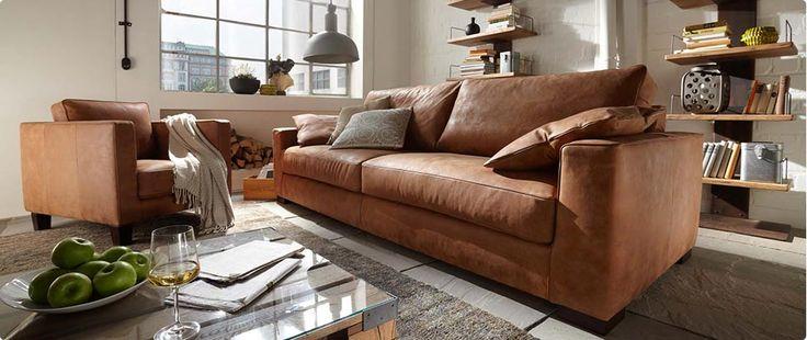 Leren bank inrichting for Cognac kleur combineren interieur