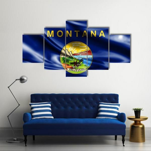 Flag Of Us State Montana M Wallart Flagswallart Flags Walldecor Homedecor Wallhanging Canv United States Wall Art Customized Canvas Art Big Wall Art
