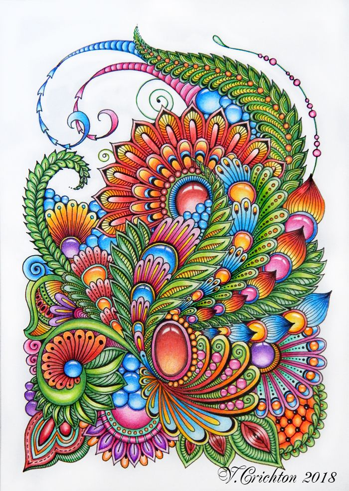 37++ Colored zentangle information