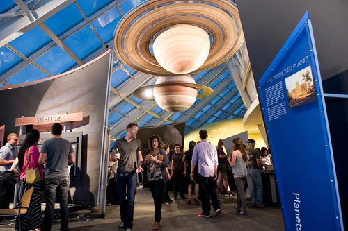 Adler Planetarium After Dark. Buy tix in advance. Every third Thursday of the month from 6 to 10 pm.