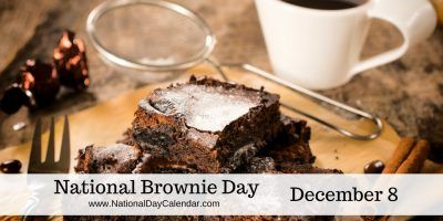 NATIONAL BROWNIE DAY – December 8, 2016 | Each year on December 8, brownie lovers across the nation celebrate National Brownie Day. | Including 4 Delicious Brownie Recipes! #NationalBrownieDay2016