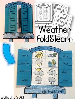 WEATHER FOLD AND LEARN - TeachersPayTeachers.com