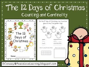 """This cute number book based on the traditional holiday song will help strengthen your students' number sense, counting and cardinality skills, use of ten frames and number words. (There is also an alternate """"Friendship"""" version for those students who don't celebrate Christmas.)  Take a look at the preview for a closer look at the format of the book.Happy Holidays!"""