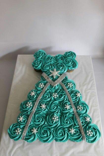 Torta de Cupcakes Frozen 100 % Comestibles.