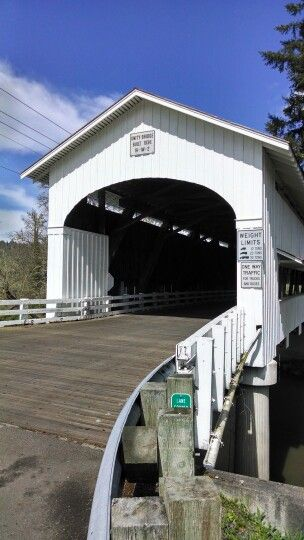 Unity Covered Bridge located in Lane County, Oregon. Photo taken by Mary Michele Genske©