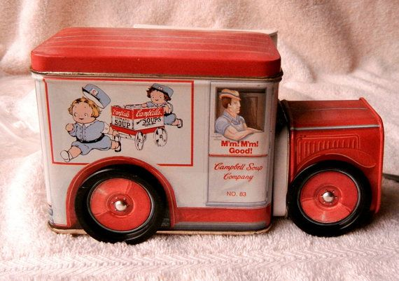 Campbells Soup Tin Box Truck Vintage 1960's by GailsGreatGoodies, $14.99