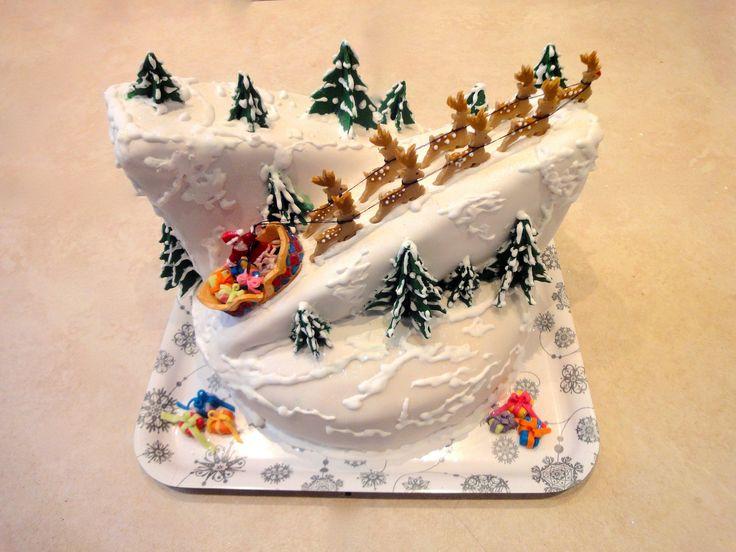 Kerst taart 'de kerstman'