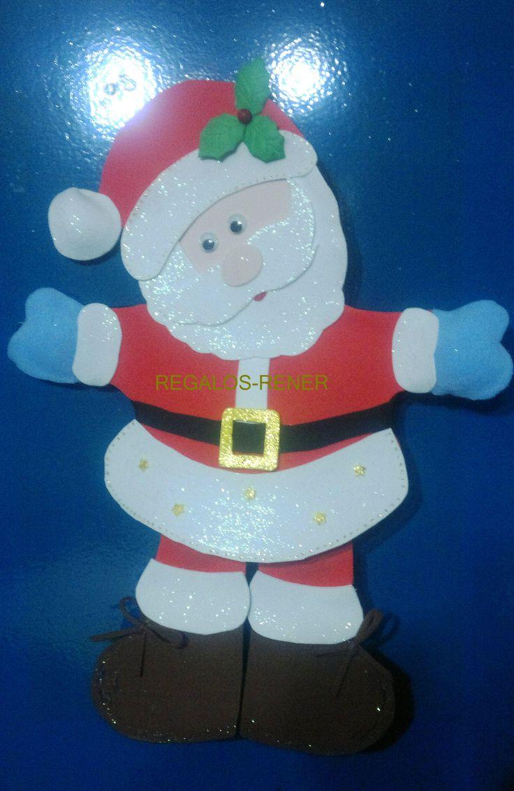 Aplique de pared Papá Noel en goma eva