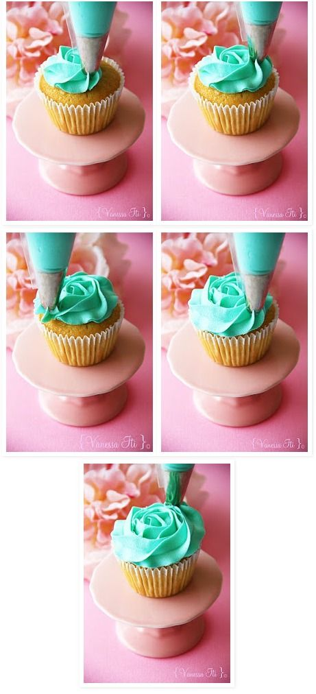 Rose swirl cupcake tutorial