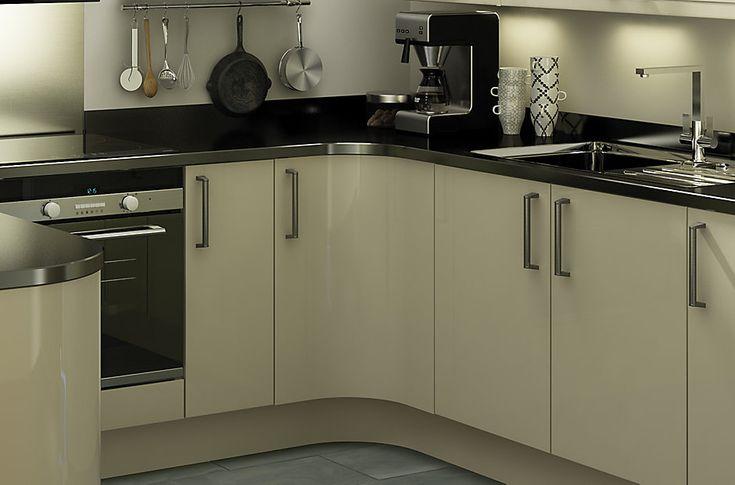 Best It Santini Gloss Grey Slab Diy At B Q Kitchen Fittings 400 x 300