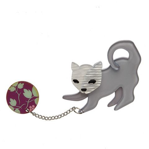 "Erstwilder Limited Edition Kitty Cat Scratch Brooch. ""Of course you are smitten with this here kitten. But are you the perfect match for our Kitty Cat Scratch?"""