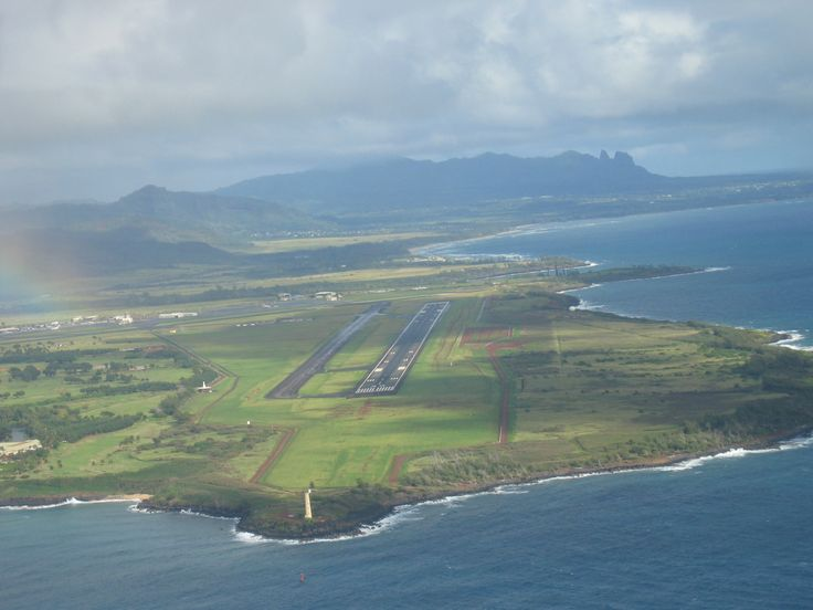 Aerial view with Lihue Airport | Lihue's Natural ...