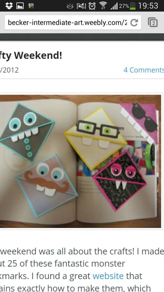 corner bookmarks totally going to do these
