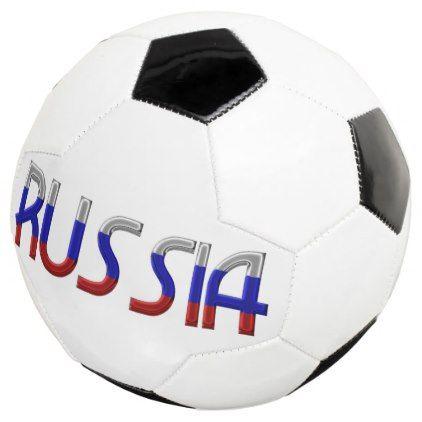 Russia Typography Russian Country Flag Colors Soccer Ball - home decor design art diy cyo custom
