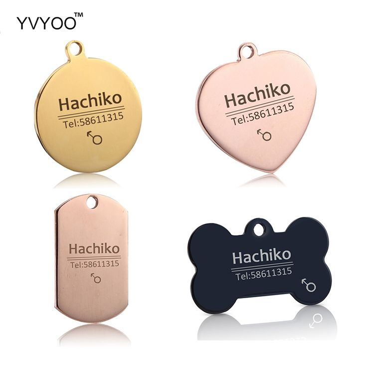 YVYOO Free engraving Stainless steel Pet cat dog collar accessories dog ID tag customized tag name telephone B06 //Price: $8.99 & FREE Shipping //     #hashtag2