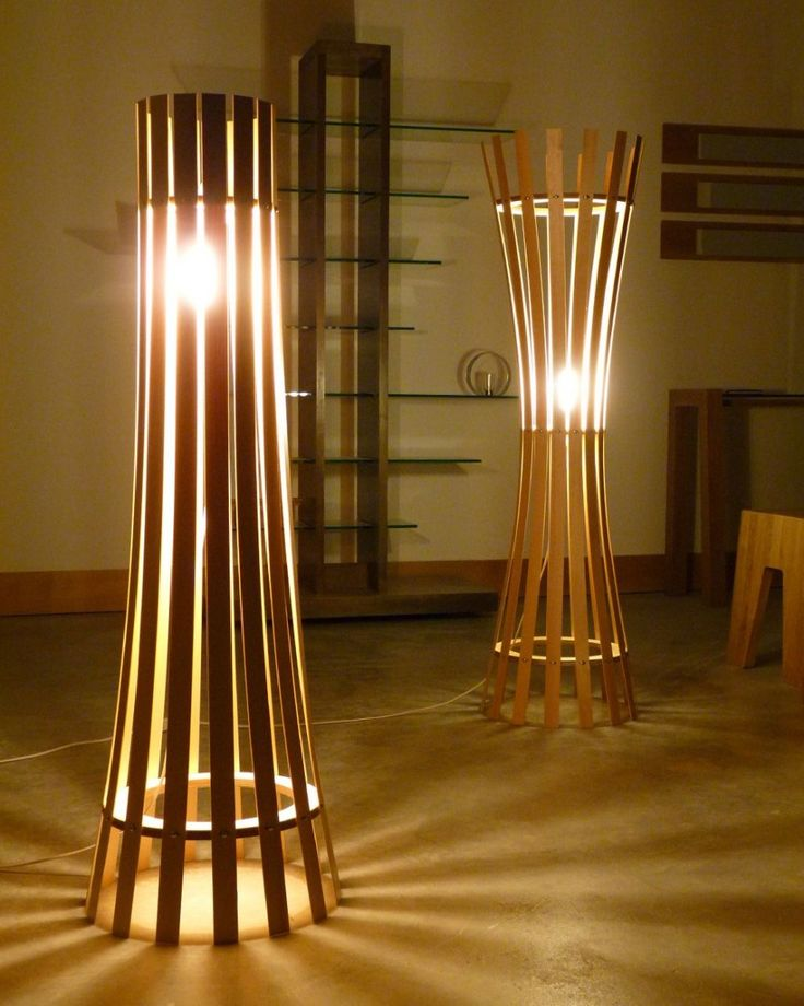 The Pinch And Splay Floor Lamps By Davin Larkin
