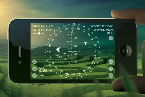 Spyglass App  Augmented reality navigator and a compass for the off-road. Packed with many useful tools: a hi-tech viewfinder, milspec compass, gyrocompass, maps, GPS tracker, speedometer, sniper's rangefinder, sextant, gyro horizon, inclinometer, angular calculator and 5x zoom camera