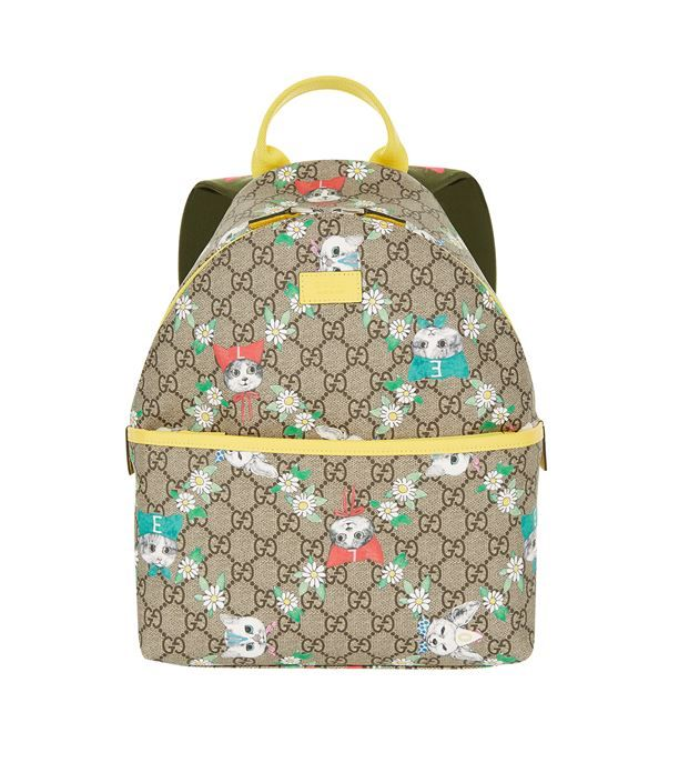 Gucci+Kitten+Monogram+Backpack+available+to+buy+at+Harrods.Shop+girl+(3-16+years)+online+and+earn+Rewards+points.