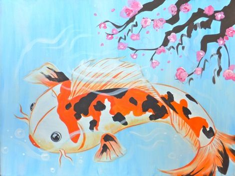 18 best upcoming painting parties images on pinterest for Fish safe paint