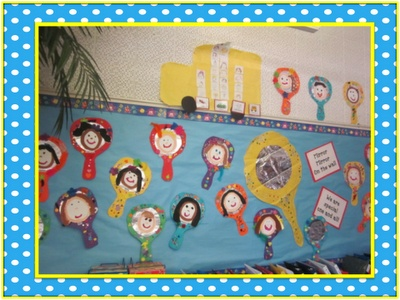 This past week our theme was I AM SPECIAL! We decorated mirrors and painted our faces to glue onto our mirrors.