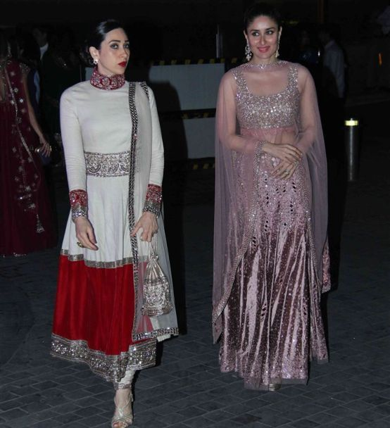 Kapoor Sisters Karisma & Kareena at Manish Malhotra's niece Riddhi's pre Wedding Sangeet. Dec, 14