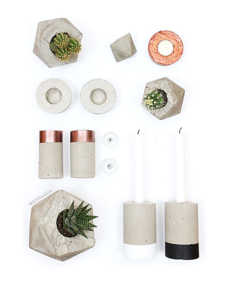 DIY // Make Your Own Concrete Presents (SOFIAMILK.SE)