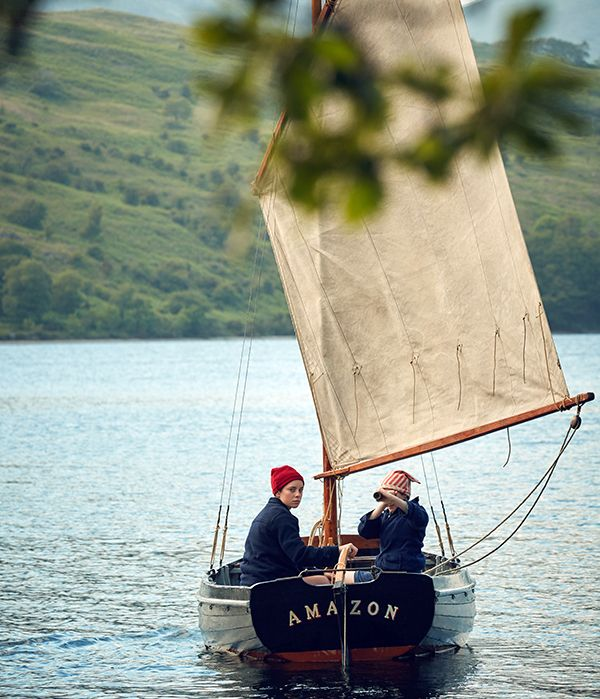 "Swallows and Amazons forever this 19 August ""Roger, aged seven, and no longer the youngest of the family, ran in wide zigzags, to and fro, across the steep field that sloped up from the lake to Holly Howe, the farm where they were staying for part of the summer holidays."" To many British sailors, the"