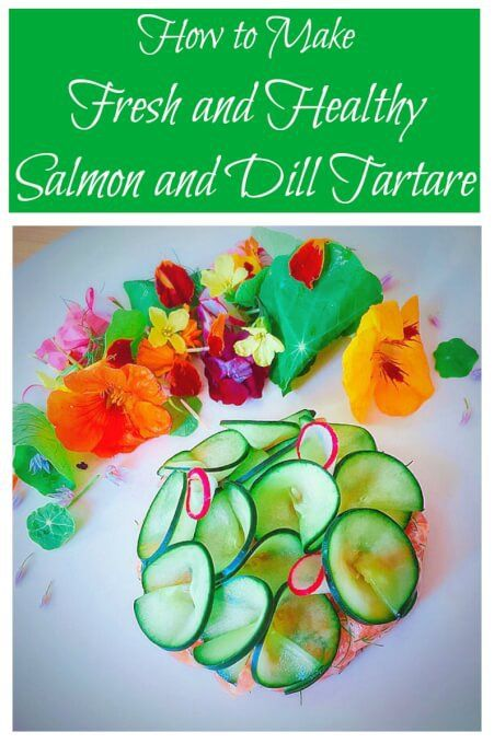 Deliciously fresh salmon and dill tartare: it's the best salmon recipe ever! A healthy, raw, and gluten-free recipe for an amazing appetizer or lunch | Tasting Everything http://tastingeverything.com