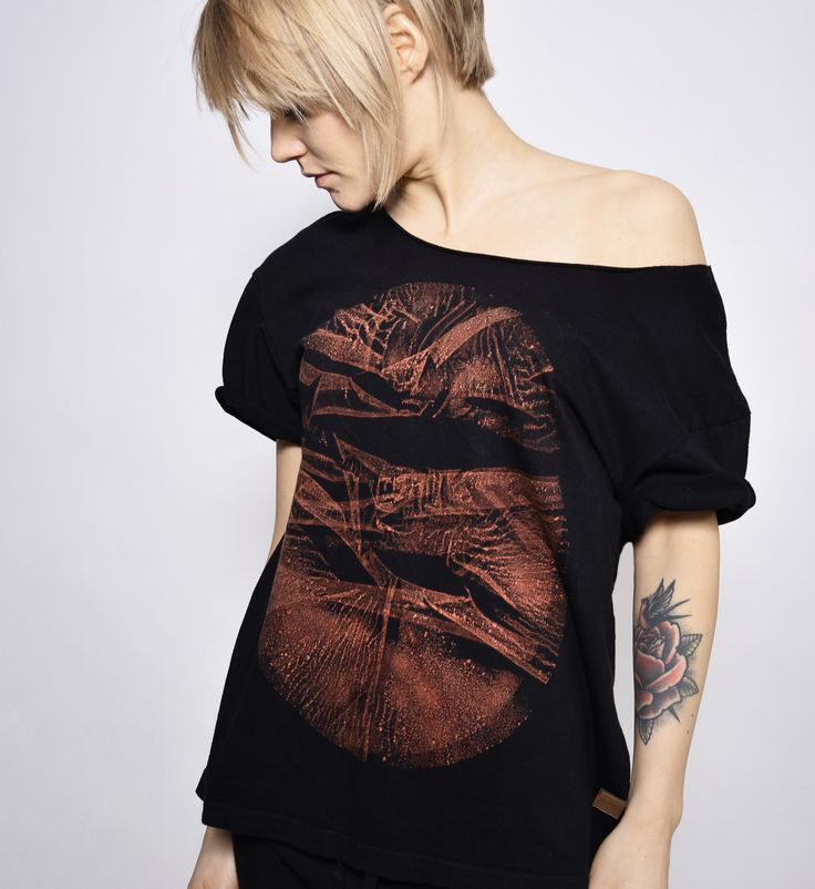 hand dyed unique t-shirt by goshko black series
