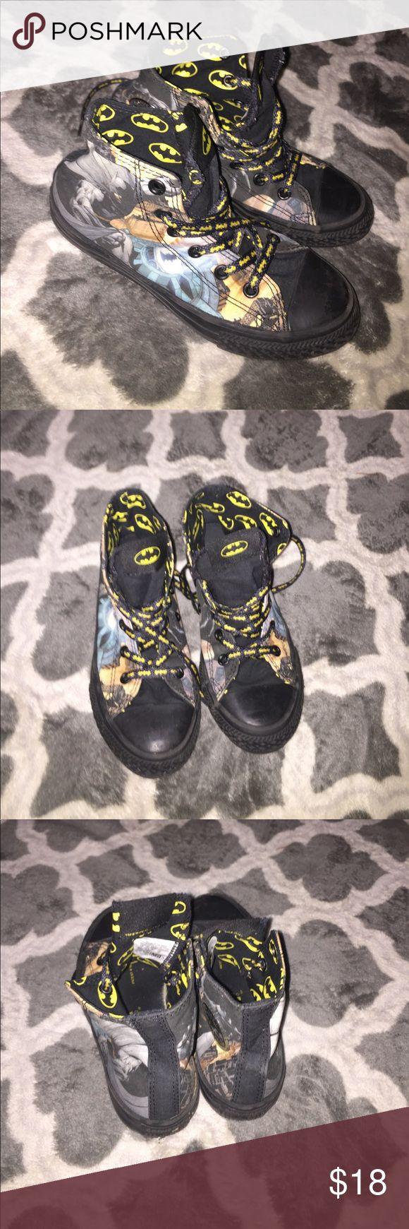 Little boy Batman Converse shoes Little boy Batman converse shoes in good condition Converse Shoes Sneakers