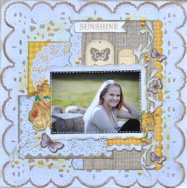 A Layout created by Kelly-ann Oosterbeek using the Tropical Punch Collection from Kaisercraft.