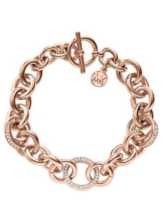 cheap michael kors outlet sale q3fz  Michael Kors Rose Gold Bracelet
