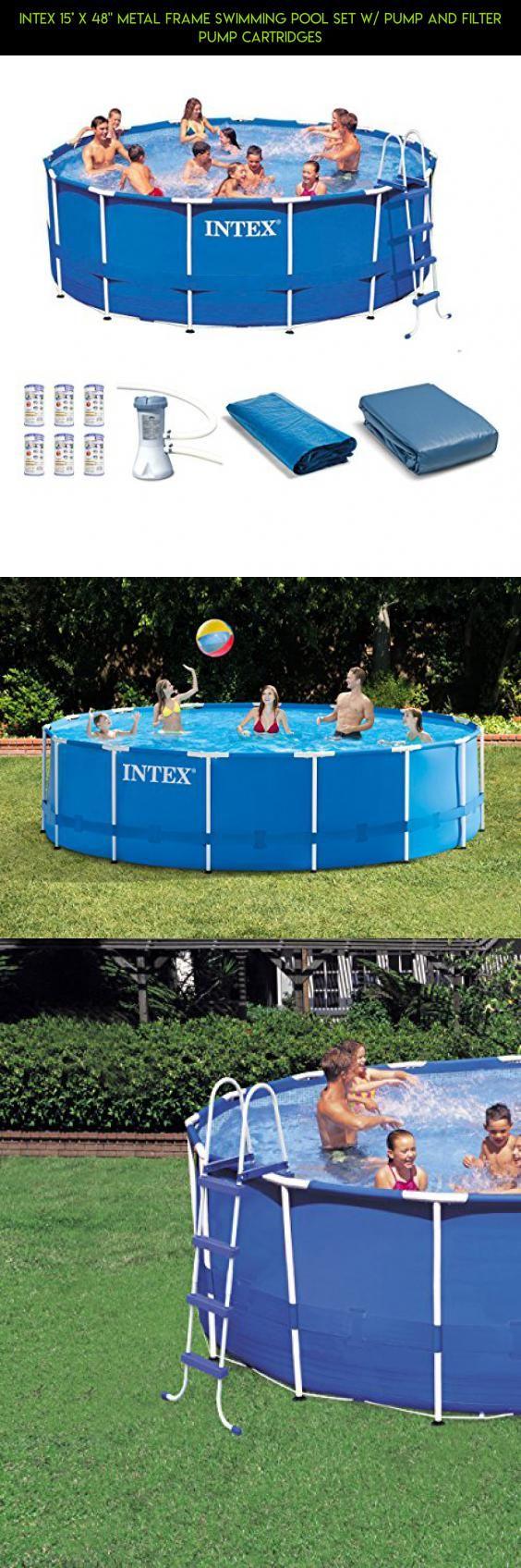 Trend Intex u x Metal Frame Swimming Pool Set w Pump and Filter
