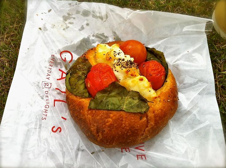 Goats Cheese, Tomato and Basil Savoury Brioche from Gail's Bakery, Dulwich Village