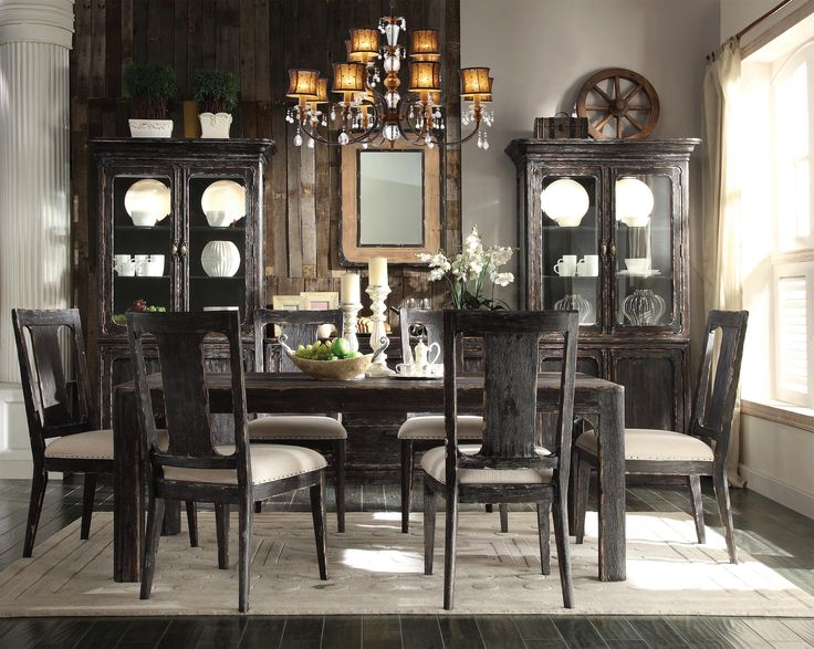 Beautiful Dining Room Tables Part - 46: This Is The Table We Love Bellagio Weathered Black Dining Set