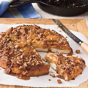 -down Caramelized Apple Cake made in an iron skillet: Iron Skillet ...