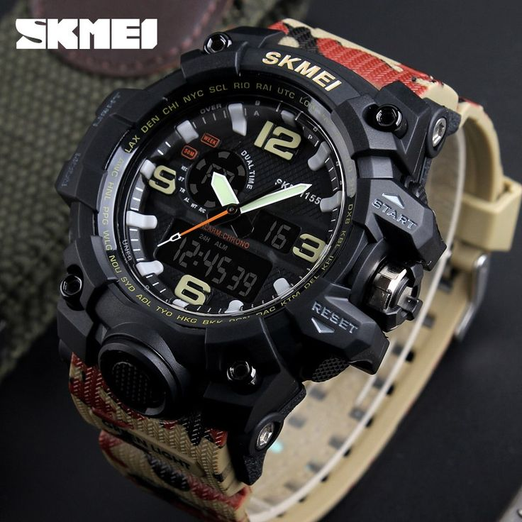 Military Watch Men Waterproof Sport Watch For Mens Watches //Price: $45.99 & FREE Shipping //     #tacticalgear #survivalgear #tactical #survival #edc #everydaycarry #tacticool