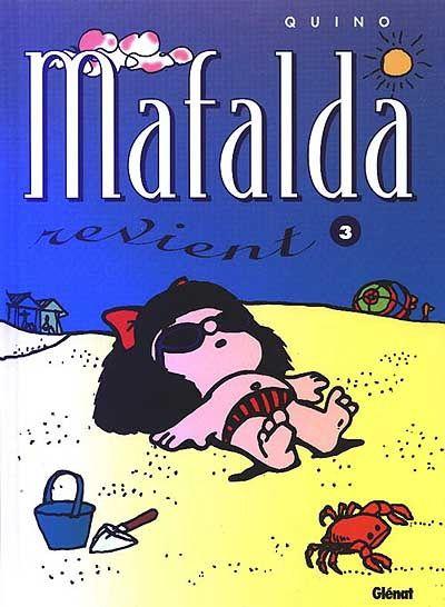 On ne présente plus Mafalda, petite fille vive qui découvre la vie, ses joies, ses absurdités et ses horreurs. A travers l'éveil d'un enfant Quino nous livre sa réflexion sur le monde et sur l'étrange animal qui le peuple : l'être humain. Quino donne naissance à Mafalda en 1964, personnage qui fera de lui un dessinateur mondialement connu et reconnu. Umberto Eco qualifia Mafalda de  contestataire  et d'  héroïne engagée qui refuse le monde tel qu'il est . Abandonnant la gamine dix ans après…