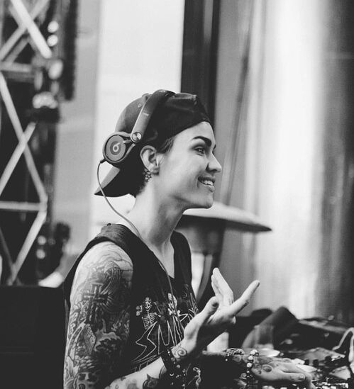 ruby rose, dj, and black and white image