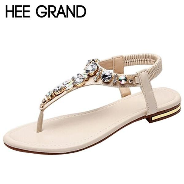 HEE GRAND Rhinestone  Women Sandals - Online Global Shopping Centre