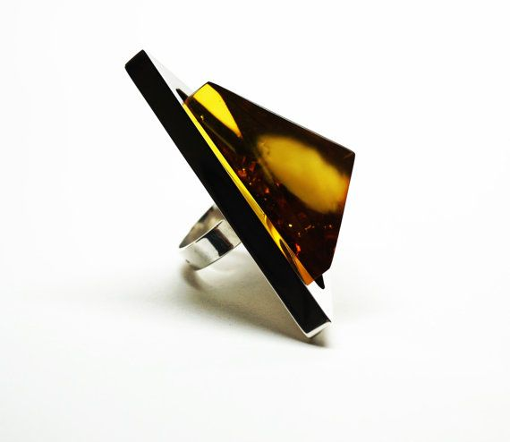 E. Salwierz Design Baltic Amber Sterling by APPUSSTUDIOJEWELLERY